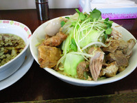 「ビックウェーブ肉ましつけめん中盛」@麺の家 渚の写真