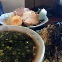 「正油つけ麺 こってり 具付 840円」@青竹手打ちラーメン 桐生宿の写真