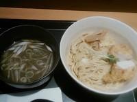 「釜玉鶏塩つけ麺 ¥680」@つけ麺与六BUSHI道 IKE 麺 KITCHEN店の写真
