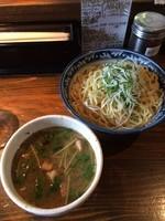「限定梅しそ塩つけ麺850円 ミニ角煮丼150円」@らーめん嗟哉の写真