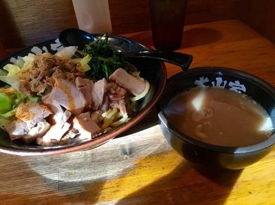 「油そば(スープ付) 並 ¥780」@ラーメン 大山家の写真
