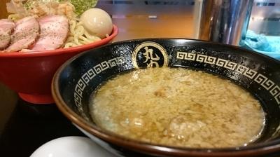 「背脂煮干つけ麺」@丸め 田無ファミリーランド店の写真