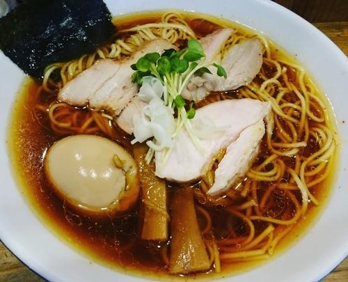 「しもふり中華そば(750円)+味玉(100円)」@麺屋KABOちゃんの写真