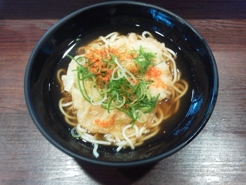 「天ぷらえきそば 360円」@えきそばの写真