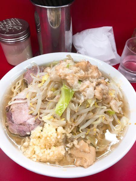 「小麺半分ニンニクアブラ」@ラーメン二郎 神田神保町店の写真