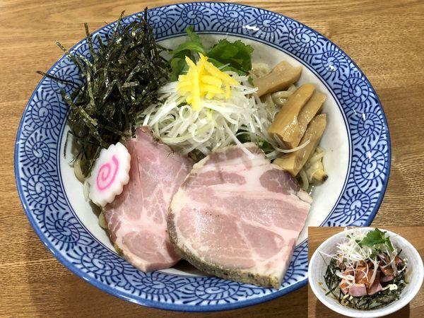 「あさり油そば(800円)+チャーシュー丼(250円)」@溝ノ百合の写真