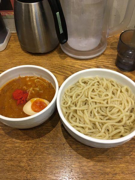 「辛つけ麺」@麺屋はつがい 荻窪店の写真