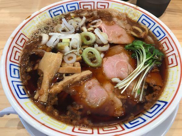 「サバ醤油そば  750円」@サバ6製麺所 仙台中倉店の写真