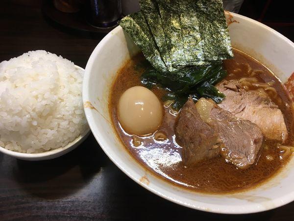 「魚介味噌ラーメン&味玉&ライス」@麺屋 優創の写真