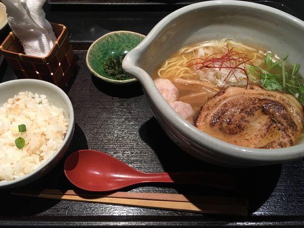 「銀笹らーめん(白醤油)+半鯛飯」@麺処 銀笹の写真