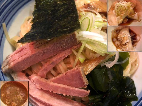 「つけめん(大)+水豚餃子」@こうかいぼうの写真