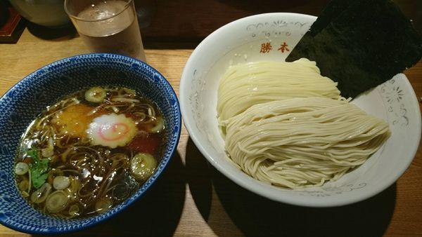 「清湯(しょうゆ)つけそば_830円」@神田 勝本の写真