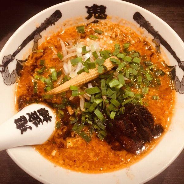 「カラシビ味噌らー麺 半麺 880」@カラシビ味噌らー麺 鬼金棒の写真