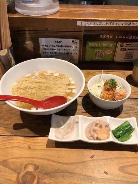 「限定 真河豚と真鱈の潮らーめん中盛り」@麺屋 翔 本店の写真