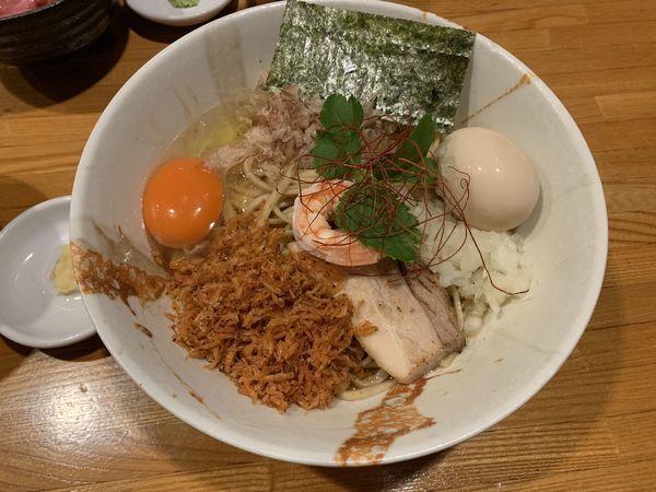 「海老味噌まぜそば」@麺屋 ひな多の写真