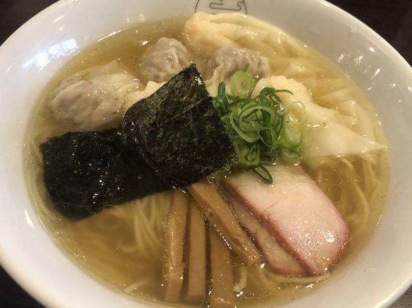 「特製ワンタン麺・白だし(1100円)」@八雲の写真
