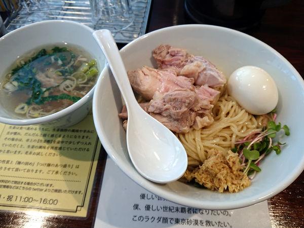 「塩生姜つけ麺+肉増し」@塩生姜らー麺専門店MANNISHの写真
