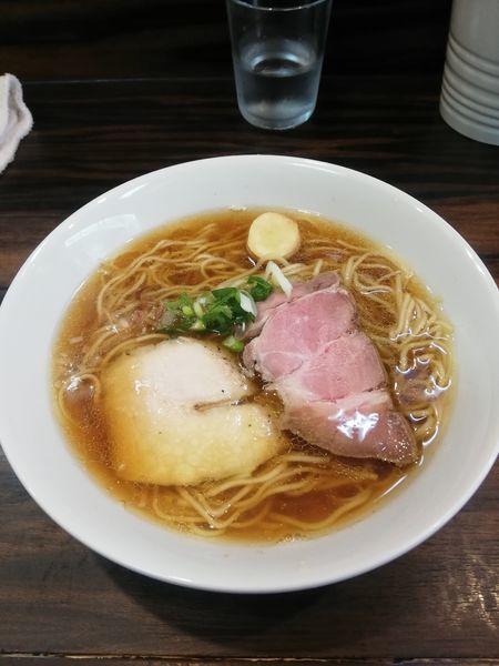 「アジ煮干しの中華そば750円」@中華そば 梟の写真