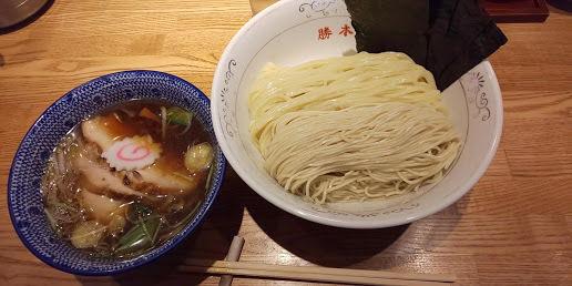 「特製清湯つけそば 大盛」@神田 勝本の写真
