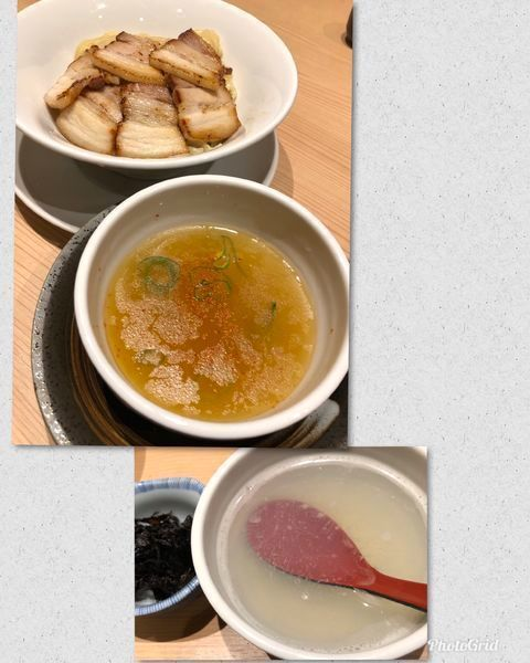 「[オフ会メニュー] 淡麗塩つけ麺 (肉増し)」@京紫灯花繚乱の写真