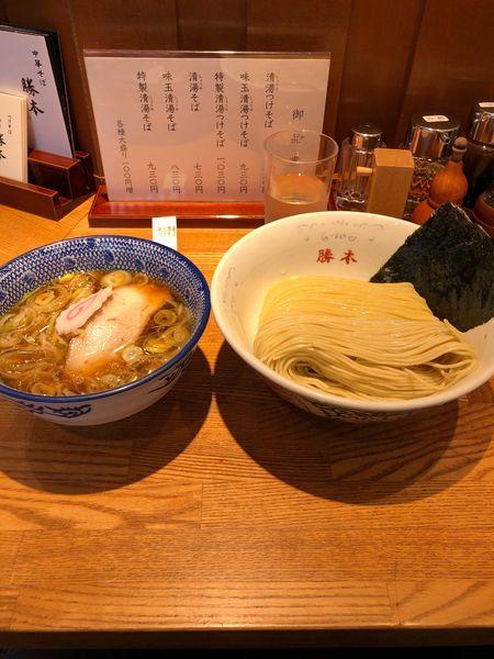 「味玉青湯つけめん 930円」@神田 勝本の写真