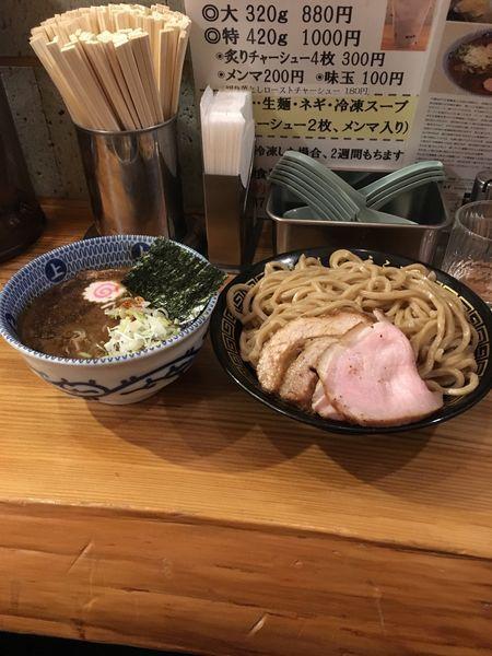 「つけ麺(大)(あつ盛)」@中華蕎麦うゑずの写真